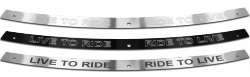 FLHT Windshield Trim - Live to Ride, Ride to Live