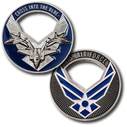 USAF Cross Into the Blue Challenge Coin