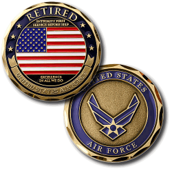 USAF Retired Challenge Coin
