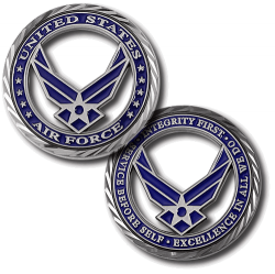 USAF Service Before Self Challenge Coin