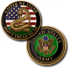 Army Don't Tread on Me Challenge Coin