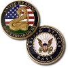 Navy Don't Tread on Me Challenge Coin